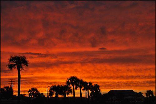 Sunset bech orange0674 blog